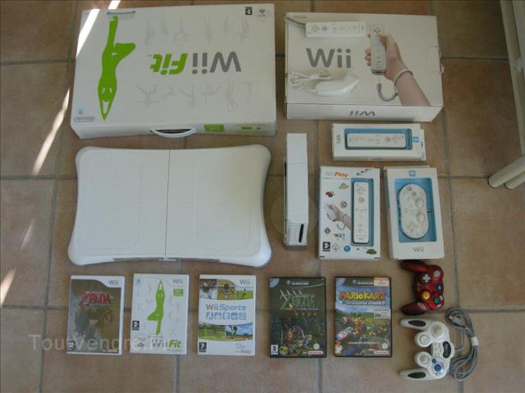 Nintendo Wii + Balance WiiFit + 3Remote + 6 jeux + ... 88244383
