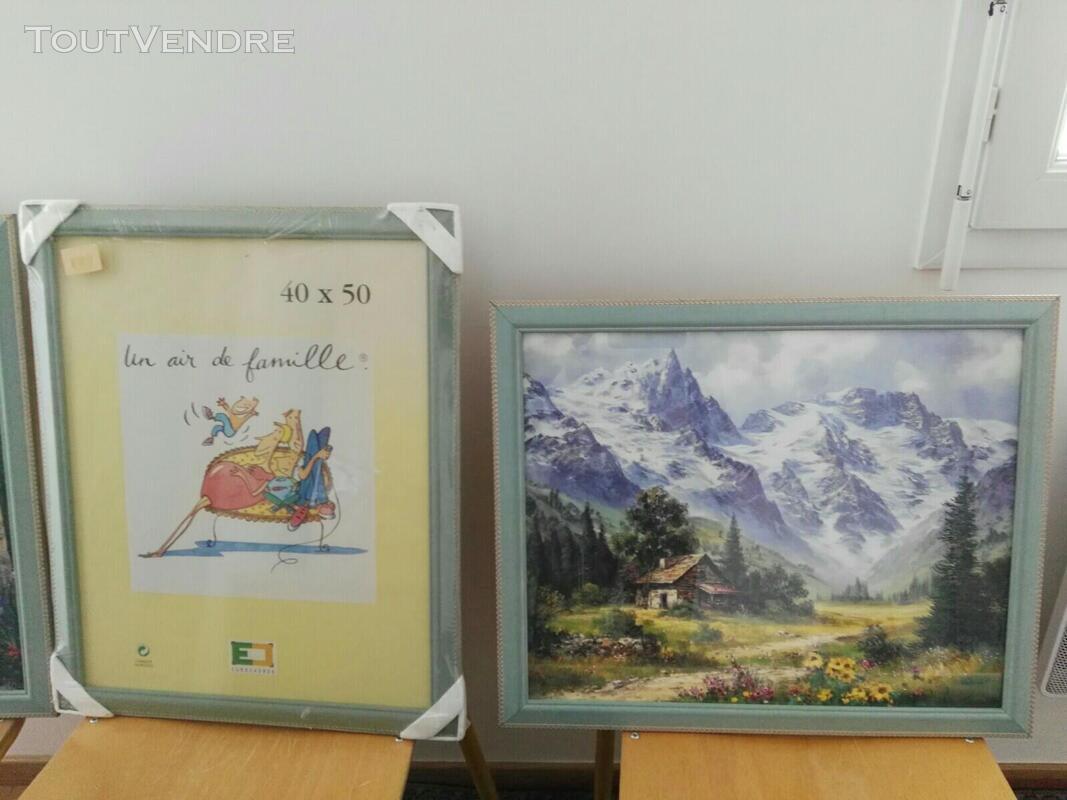 Nombreux tableaux, cadres et miroirs 558734735