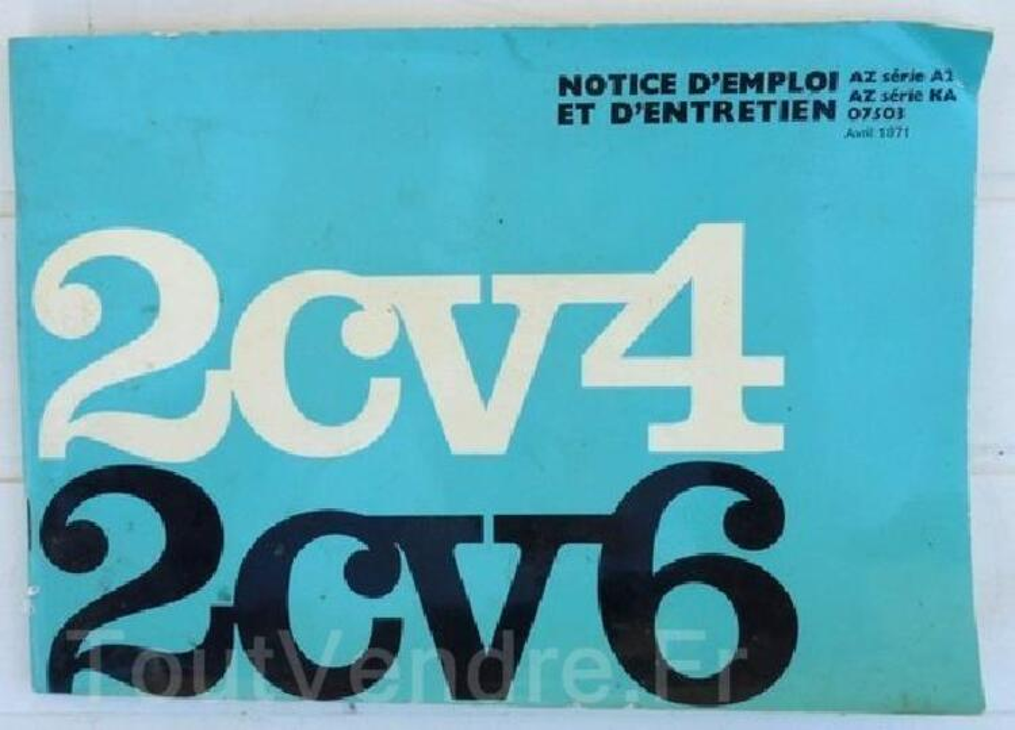 Notice d'emploi 2CV 103547114