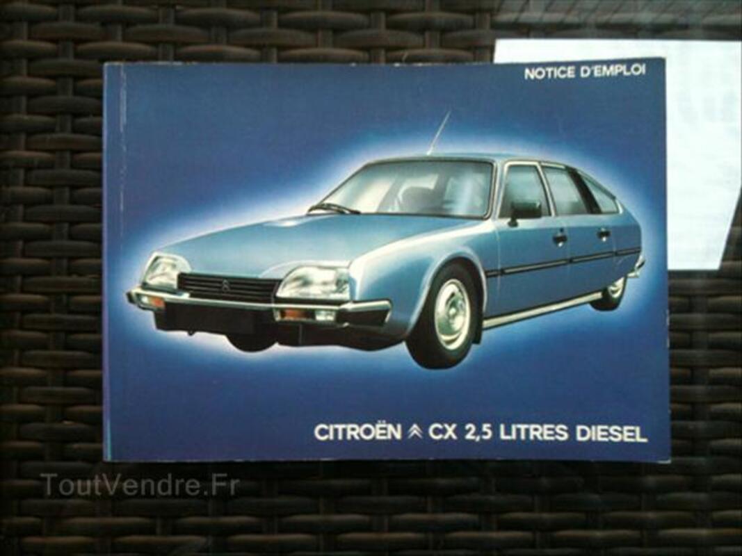 Notice emploi Citroën CX, GS/GSA, 2CV 56381213