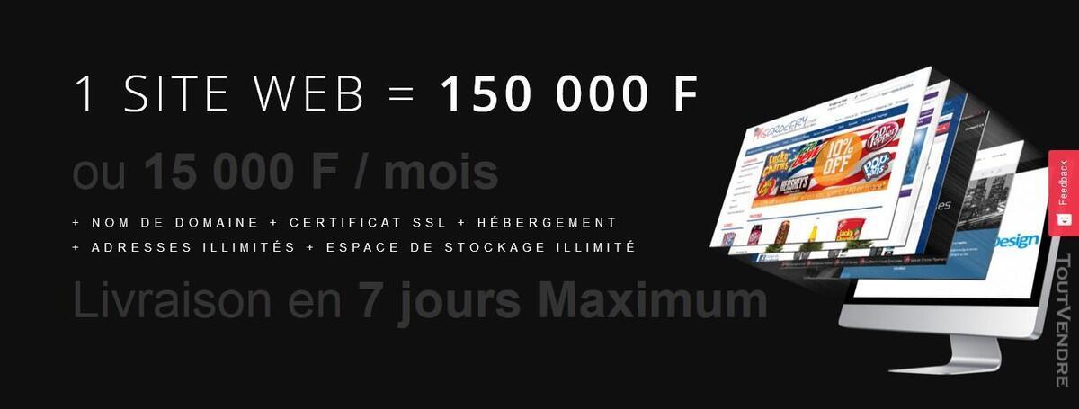 Offrez-vous un site web professionnel à 15 000 F / mois 627900677