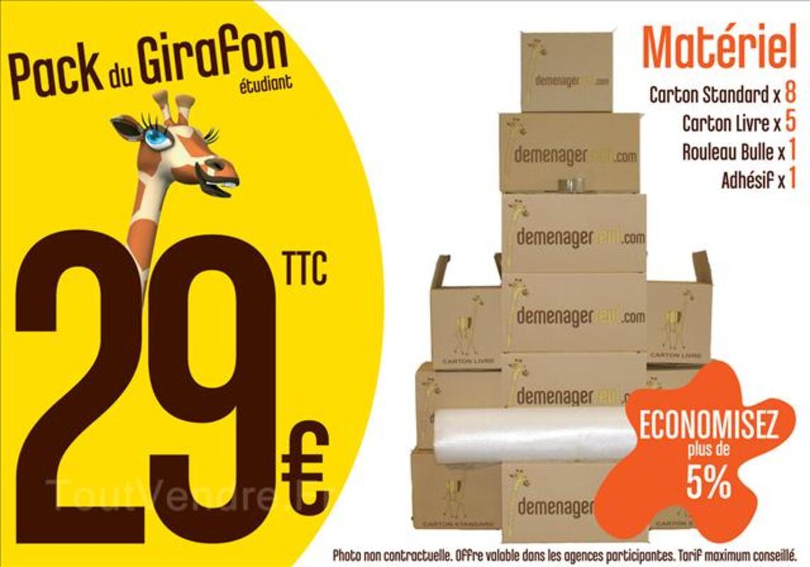 Pack Cartons Etudiant Studio - Rouen 44829884
