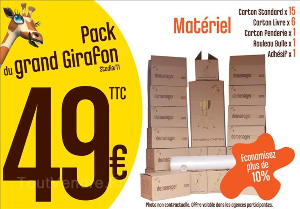 Pack Cartons Studio T1 - Rouen 44829886