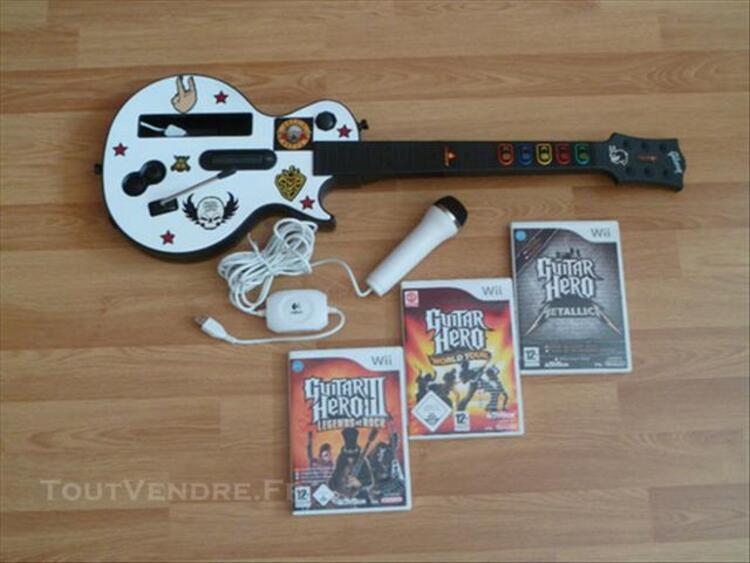 Pack Guitar Hero pour Wii 77565925
