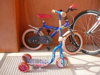 Pack vélo + trotinette spidermann 3-6ans