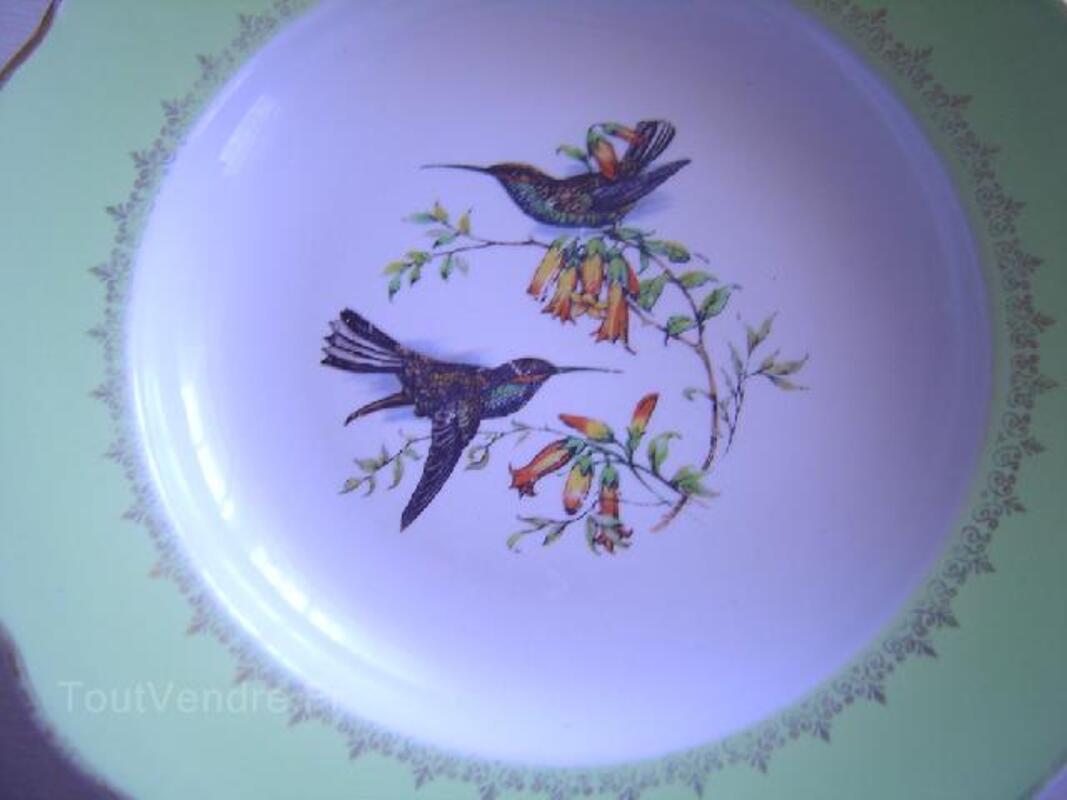 Paire assiettes luneville oiseaux badonviller 89829672