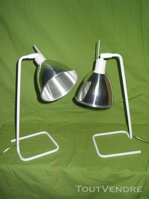 Paire de 2 Lampes filiforme la linéa vintage abat jour CHROM 621996484