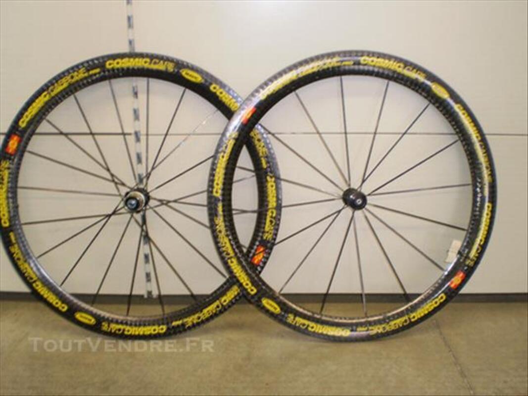 Paire de roue cosmic carbone pro boyaux 86268837