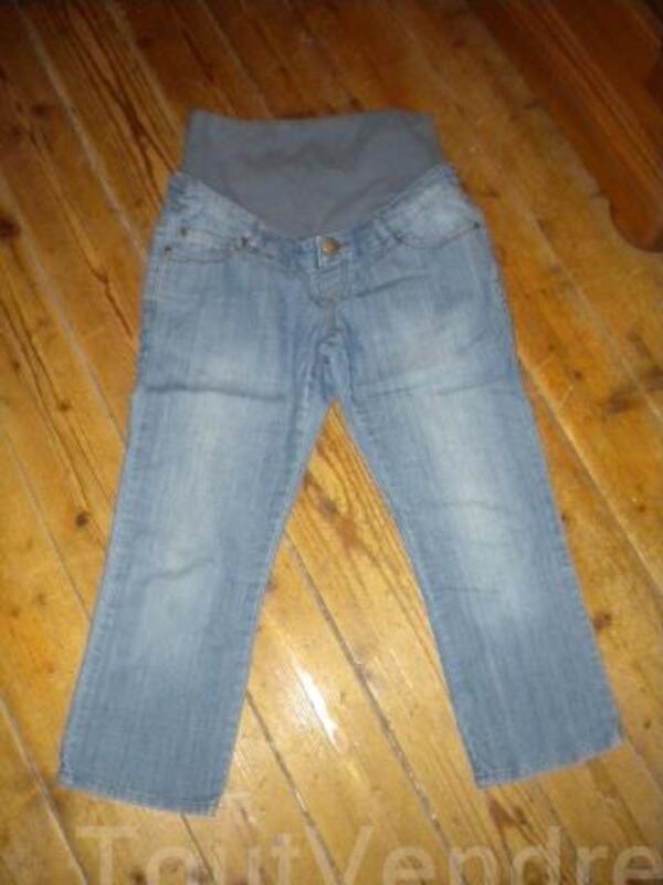 Pantacourt de grossesse en jeans taille 40 94030304