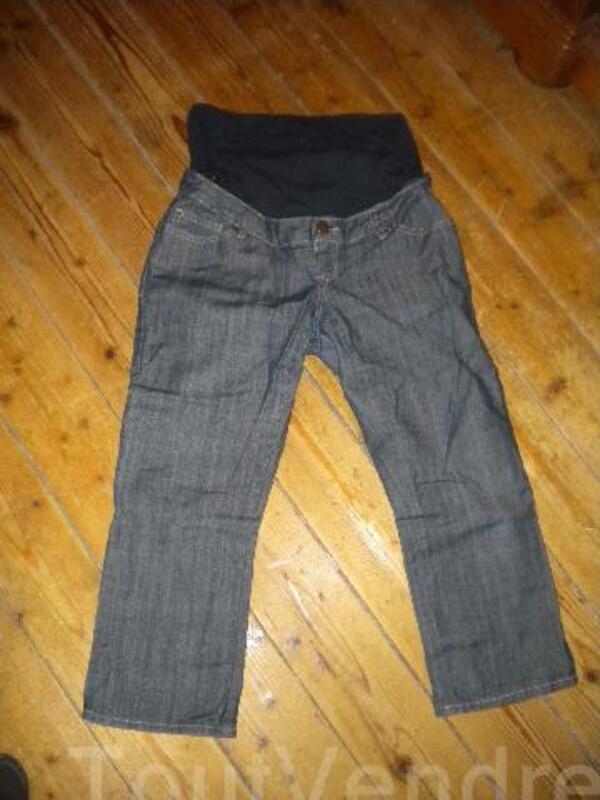 Pantacourt de grossesse en jeans taille 40 94030305