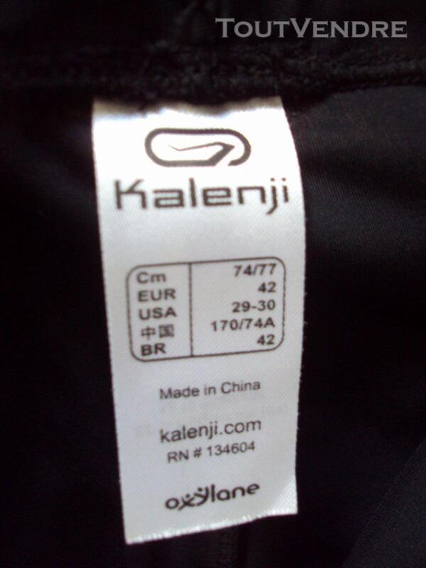 Pantalon corsaire noir KALENJI 42 254378268