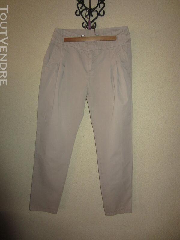Pantalon Zara beige T 34 363170105