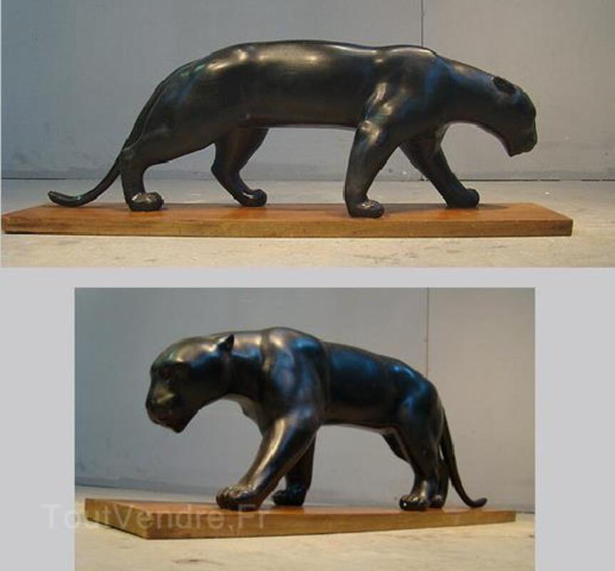 PANTHERE 1930  EN PLATRE PATINE EPOQUE ART DECO 93830927