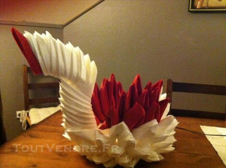 Papier dragee sculture en serviette 85331817