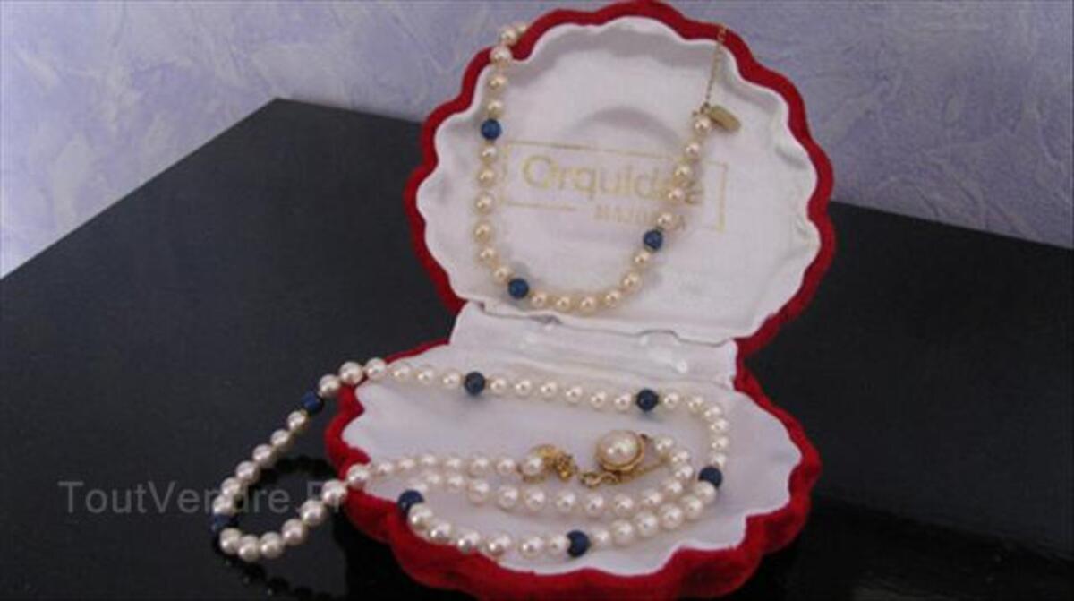PARURE Collier & Bracelet en PERLES de MAJORQUE 56357246