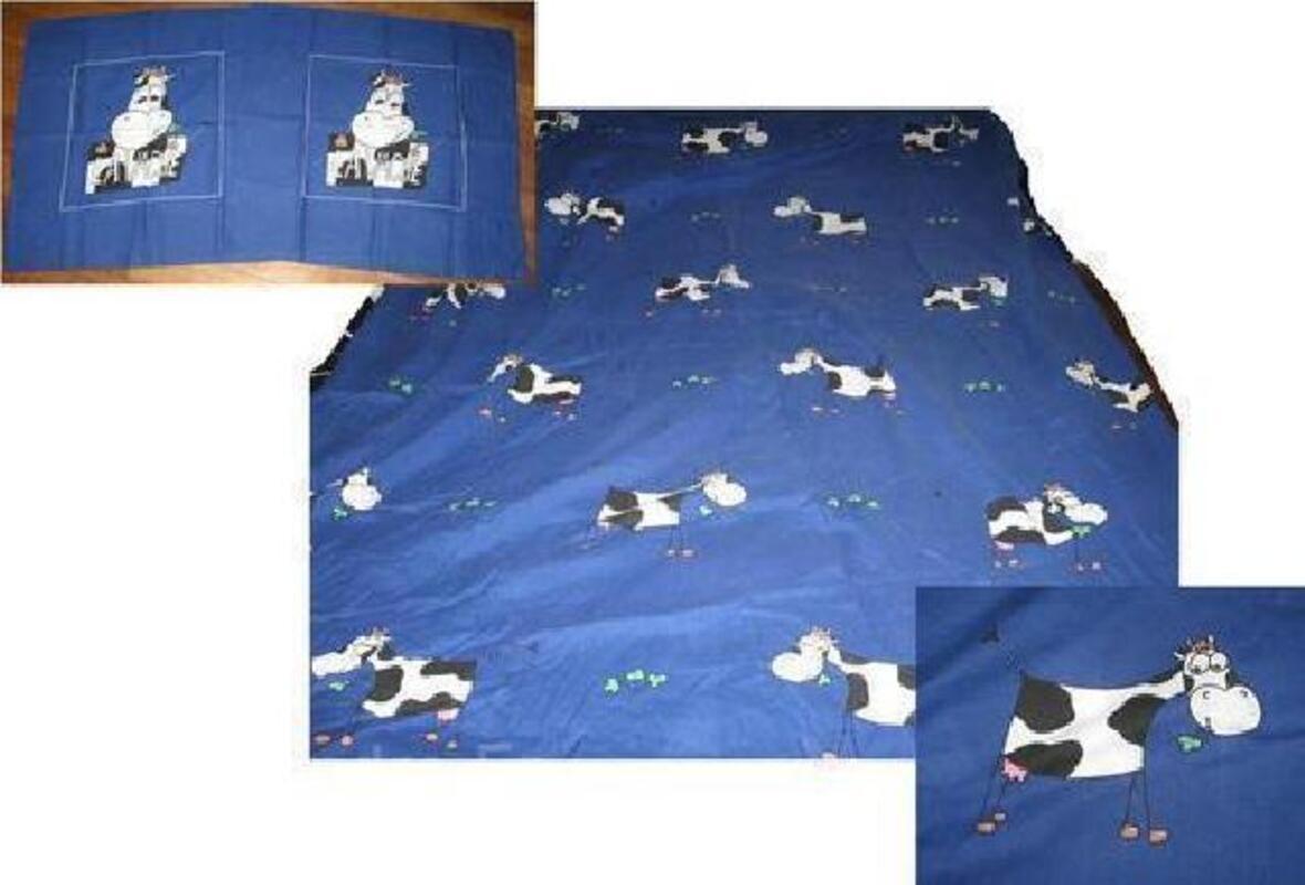 Parure de lit 1 ou 2 personnes motifs vaches 91908362