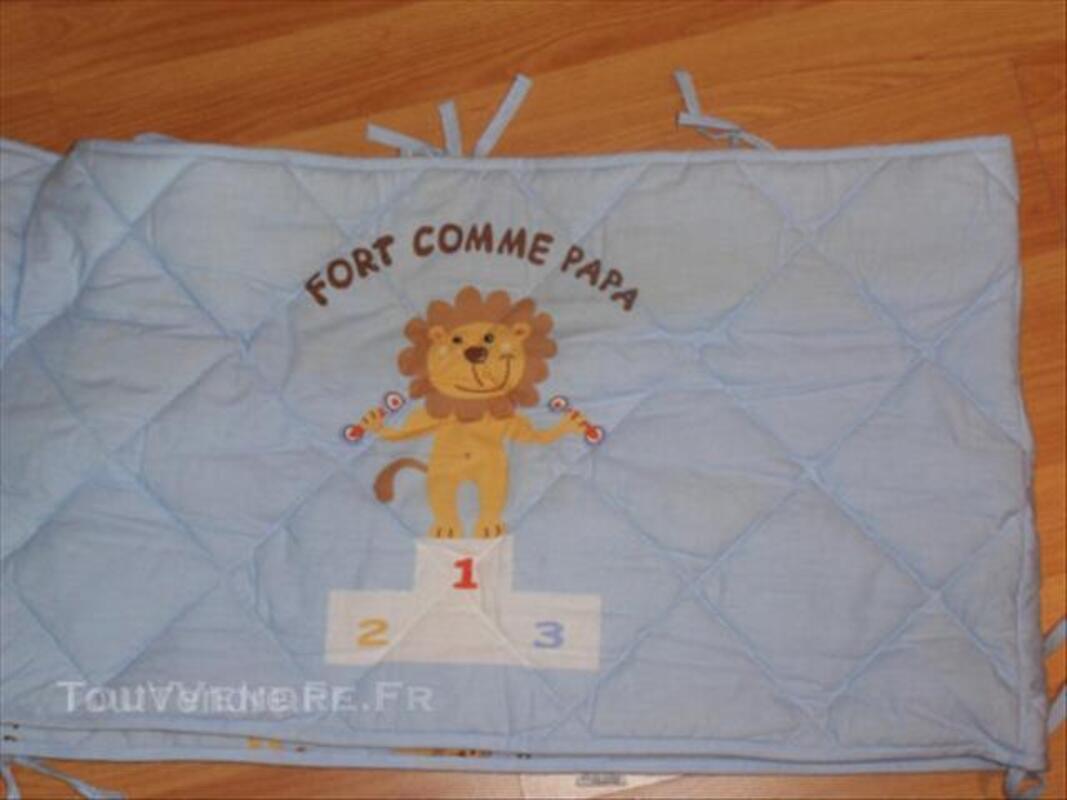 """Parure tour de lit complet """"fort comme papa"""" 45544359"""
