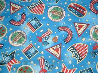 PATCHWORK TISSU INSIGNES USA 45 X  55 CMS-RANTAMPLAN0