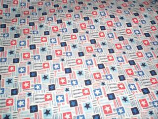 PATCHWORK TISSU PATRIOTIQUE USA 45X  55 CMS-RANTAMPLAN0