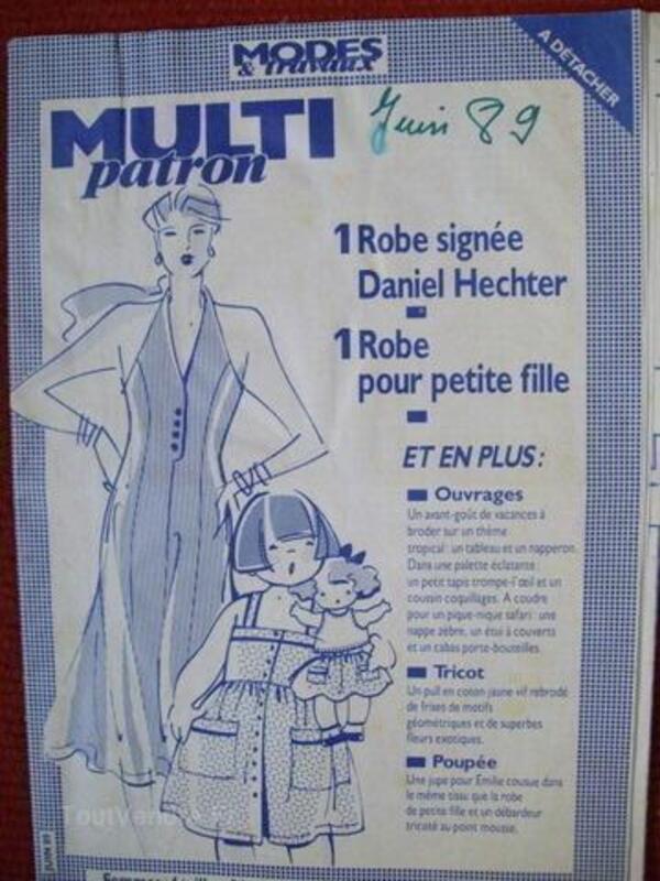 Patron poupée et maman et petite fille  mode et travaux 56175734
