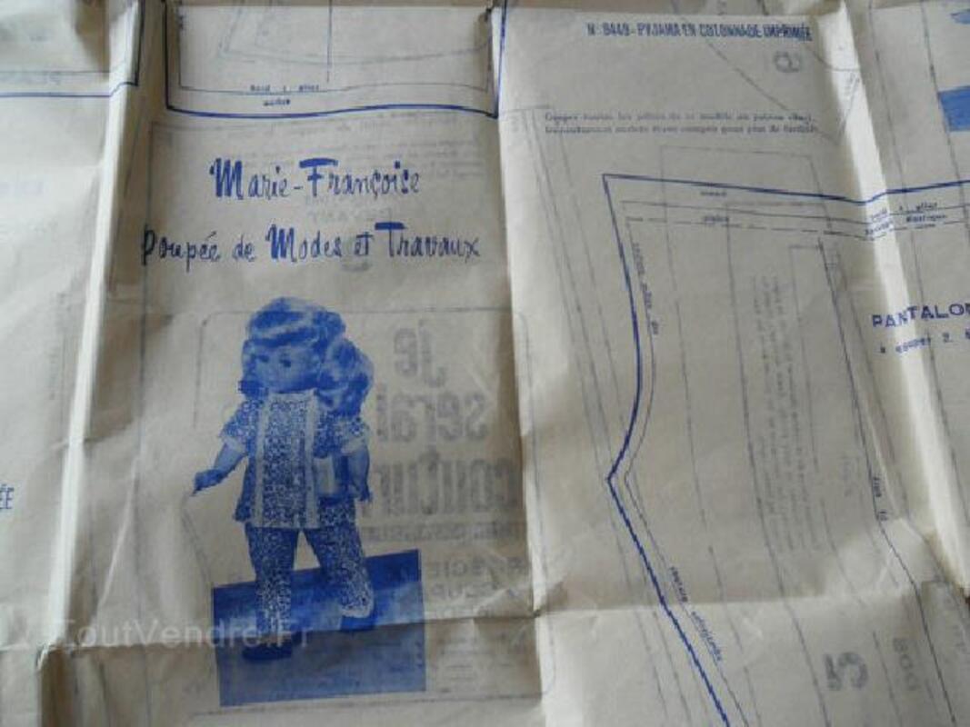 Patrons pyjamas poupées Modes & Travaux 92586536