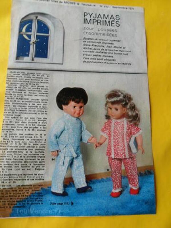 Patrons pyjamas poupées Modes & Travaux 92586537