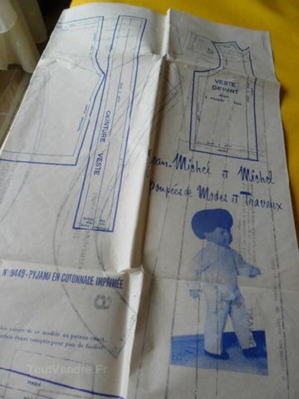 Patrons pyjamas poupées Modes & Travaux 92586538