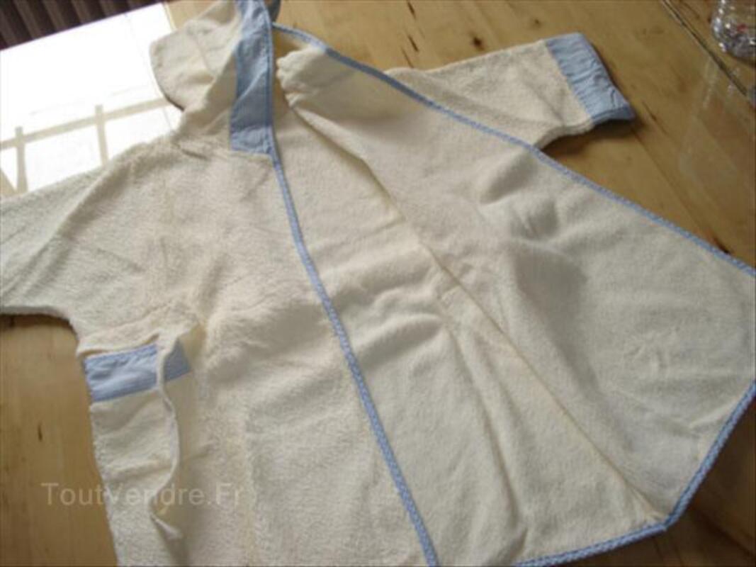 Peignoir de bain à capuche jaune garçon-fille 3ans-94cm 55855029