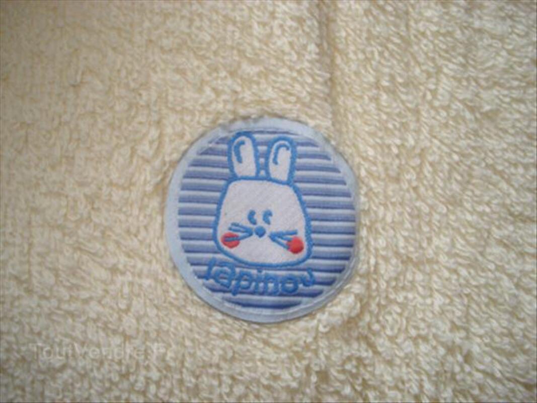 Peignoir de bain à capuche jaune garçon-fille 3ans-94cm 55855031