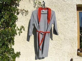 Peignoir robe de chambre gris ORCHESTRA 8 ans