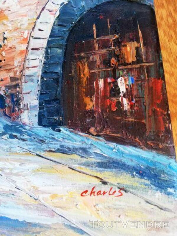 Peinture rue du Moyen âge et tour carrée 641481190