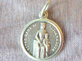 Pendentif Médaille en Argent N-D Roc Amadour Ancien