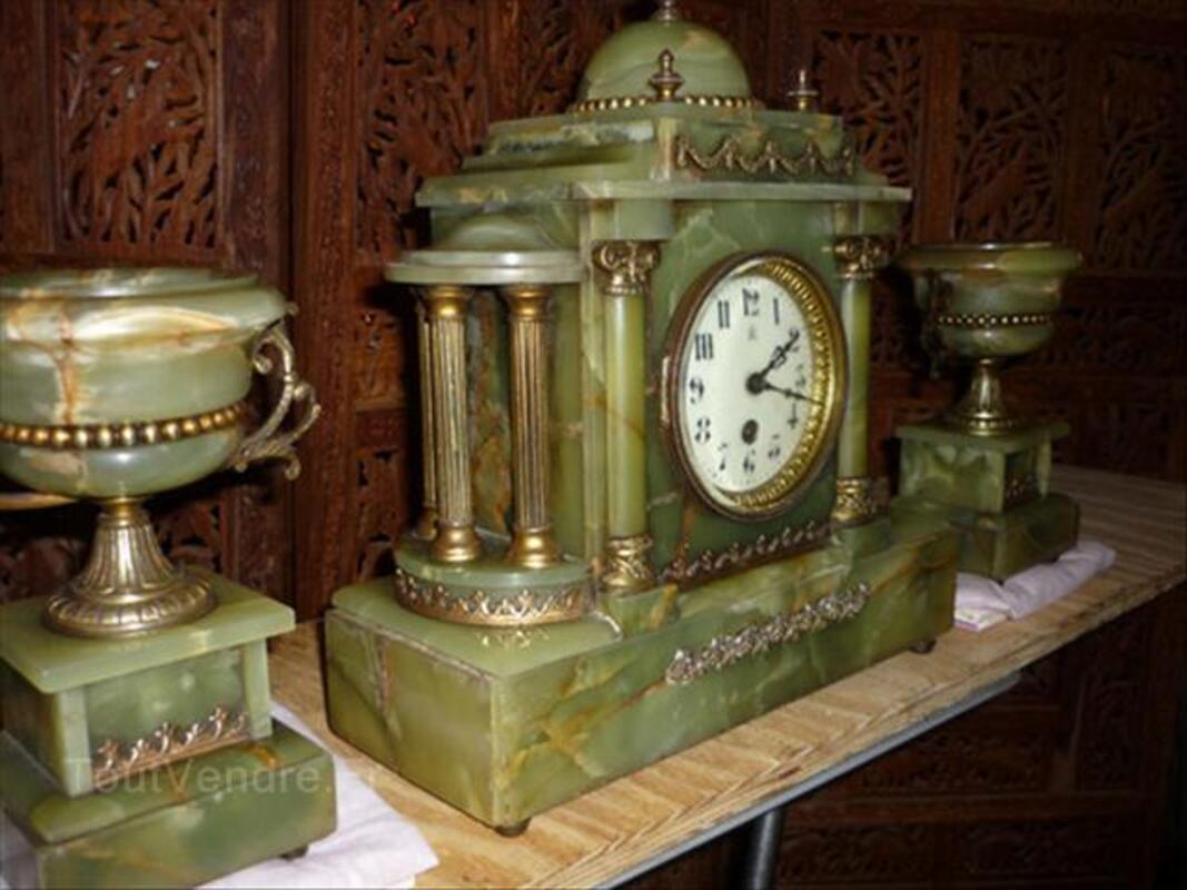 Pendule et candelabres ancien 54593996