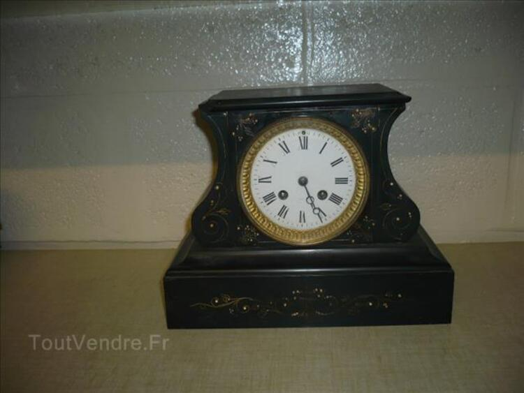 Pendule mapoléon III en marbre noir 88113465