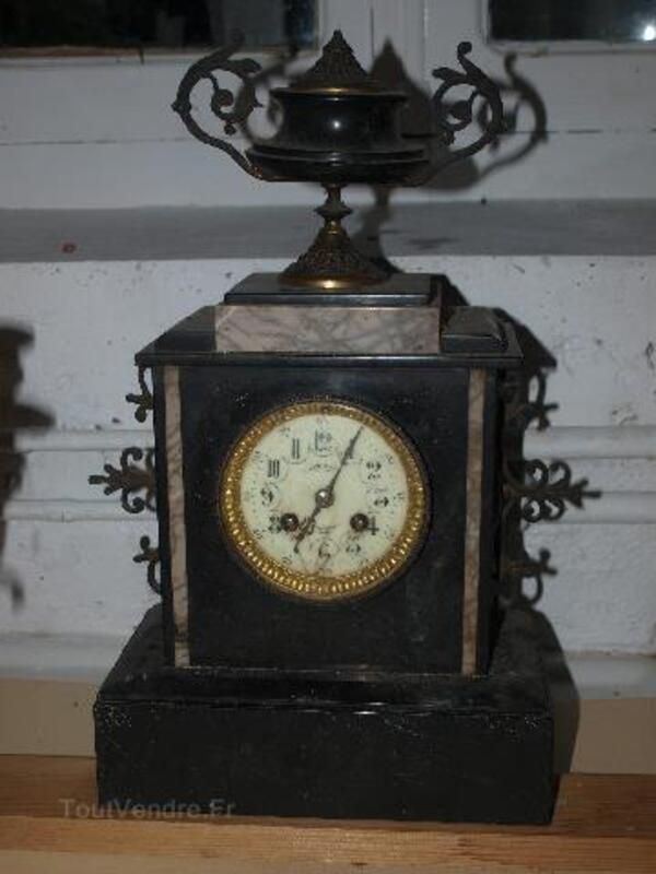 Pendule Napoléon III + 2 candélabres 97240046