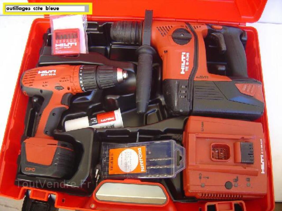Perforateur hilti te 6 avr tool kit+ visseuse SFH 14,4 92594721