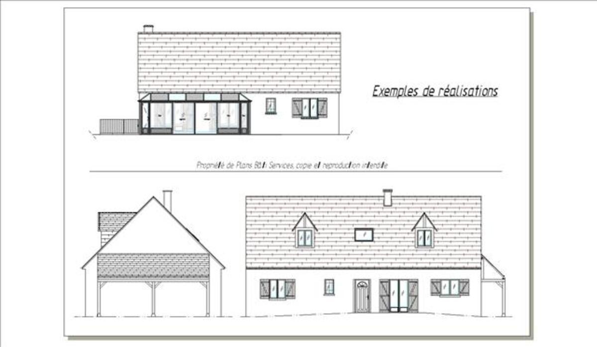 Permis de construire - plans de maison 2D/3D 34901256