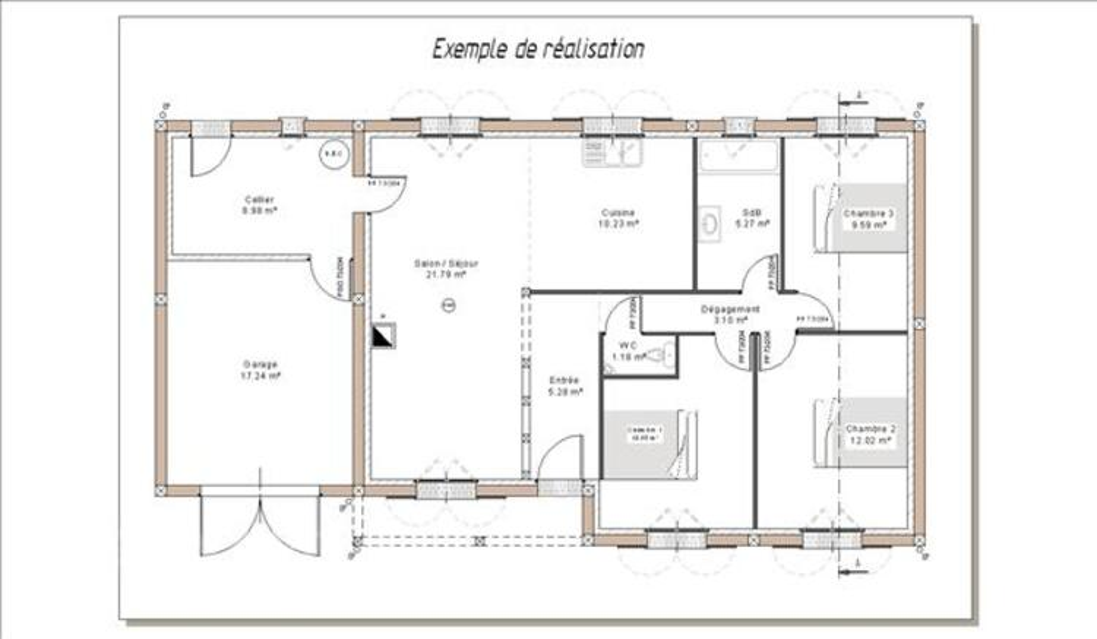 Permis de construire - plans de maison 2D/3D 34901266
