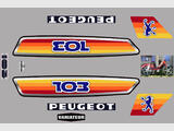 Peugeot 103 MVL 1980, Kit déco sticker