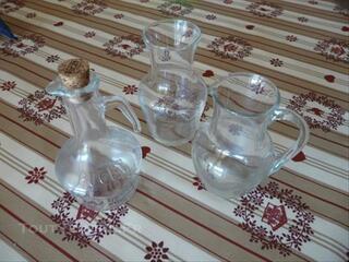 Pichets en verre