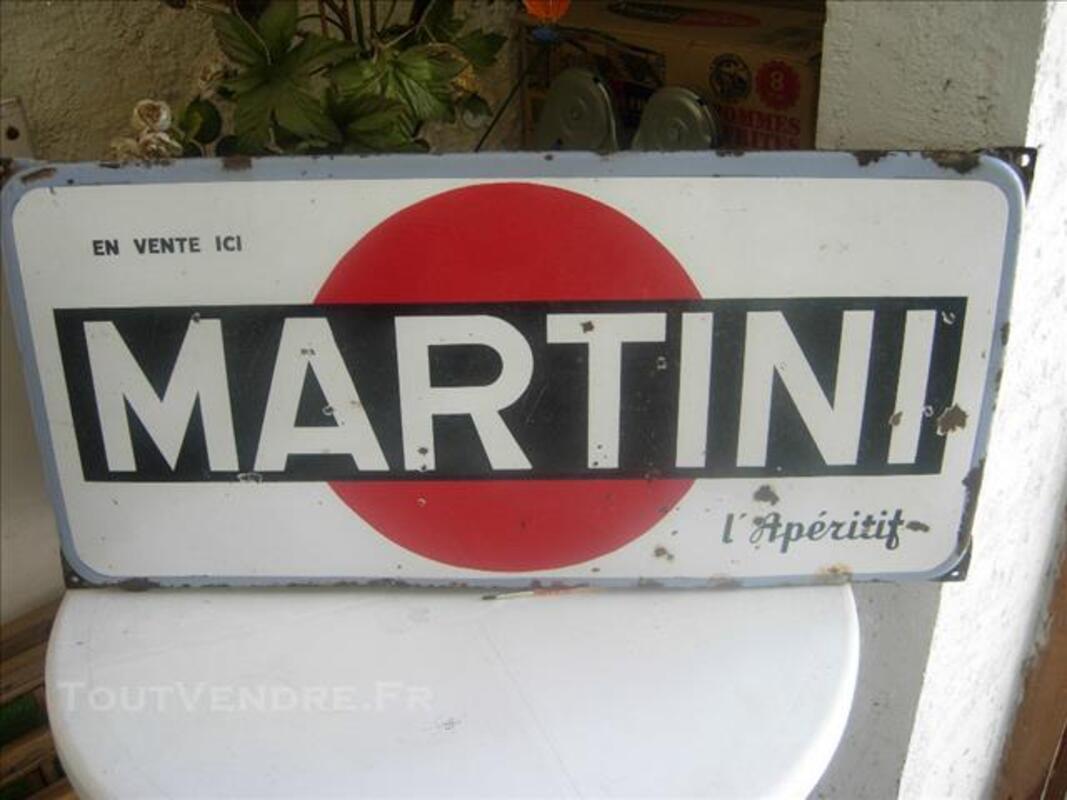 Plaque émaillée Martini ancienne 84351207