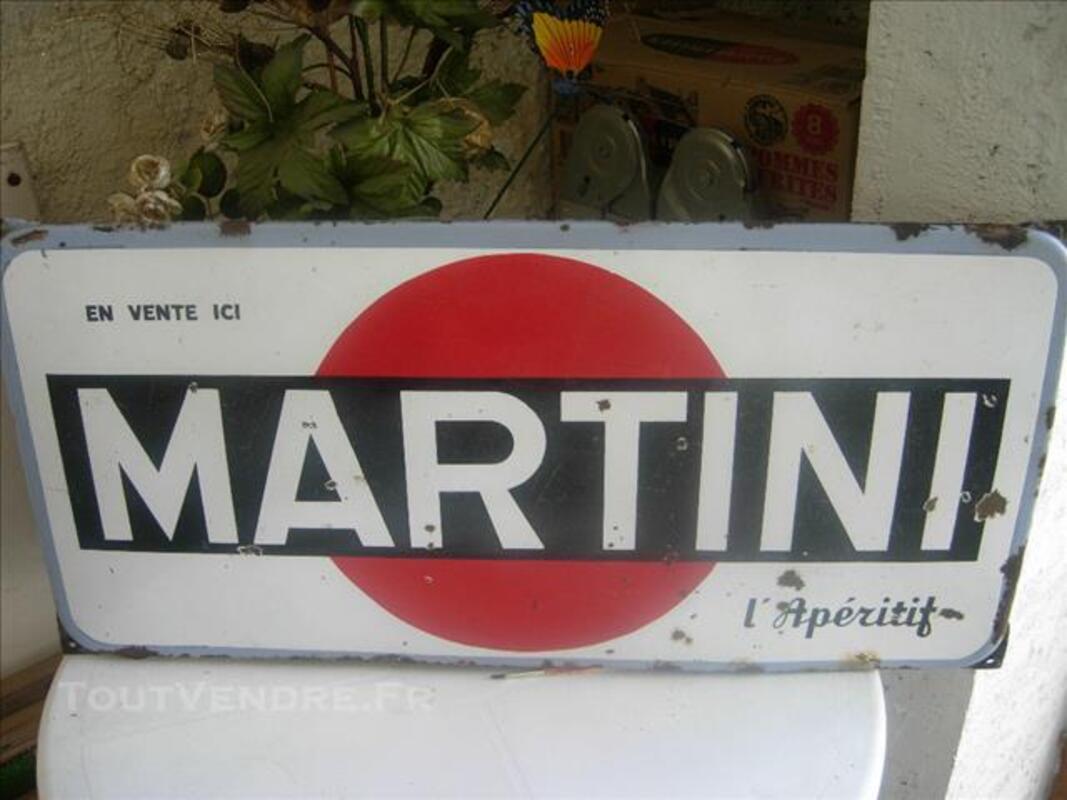 Plaque émaillée Martini ancienne 84351208