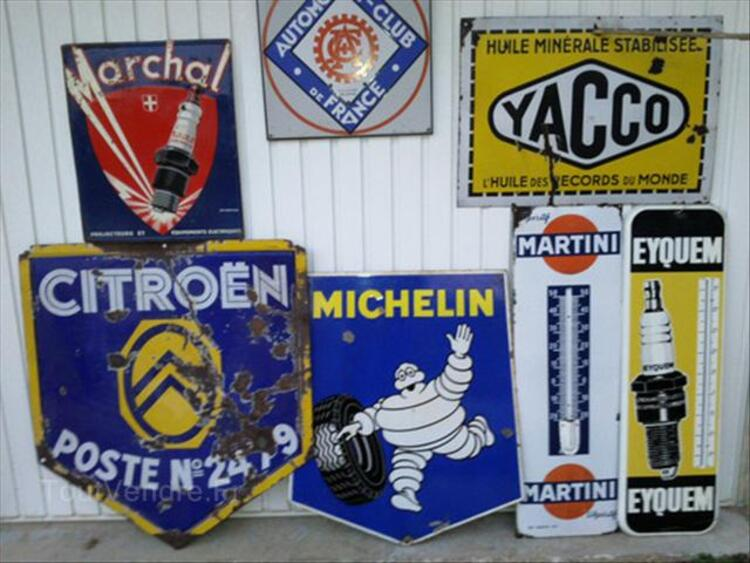 PLAQUES EMAILLEE, CITROEN, MICHELIN, YACCO, MARCHAL 64641066