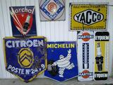 PLAQUES EMAILLEE, CITROEN, MICHELIN, YACCO, MARCHAL