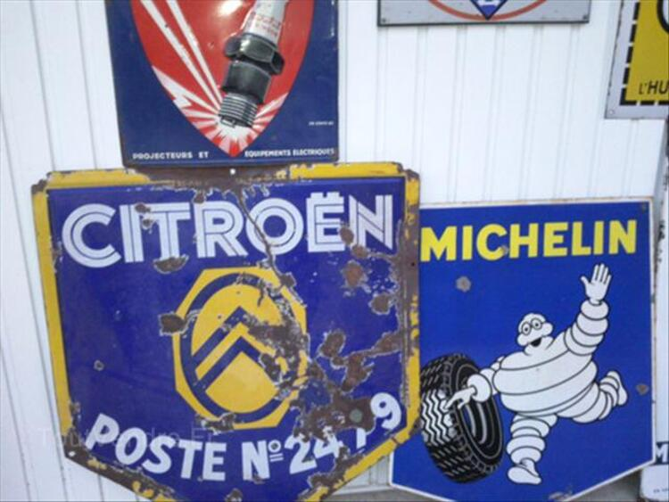 PLAQUES EMAILLEE, CITROEN, MICHELIN, YACCO, MARCHAL 64641067