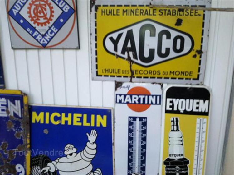 PLAQUES EMAILLEE, CITROEN, MICHELIN, YACCO, MARCHAL 64641068
