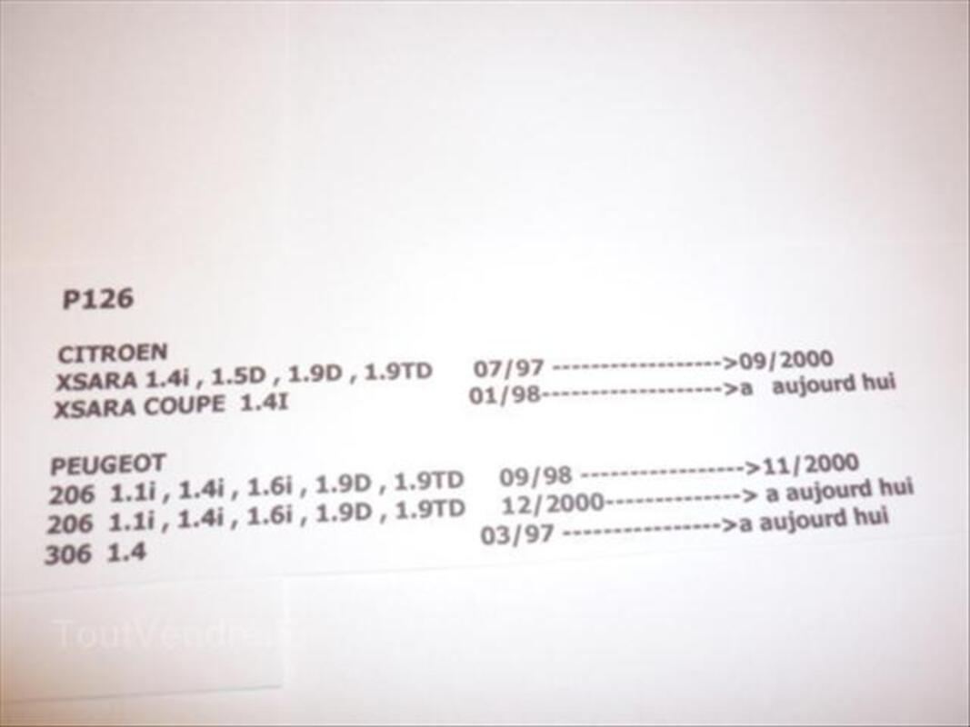 Plaquettes de frein marchal P126 CITROEN XSARA. PEUGEOT 56510782