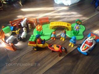 Playmobil 1 er age 1,2,3 la ferme au complet + voiture
