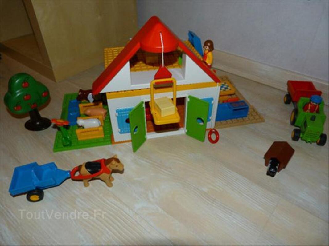 Playmobil 123 Lot: ferme, zoo, train, pompier, camion.. 56470079