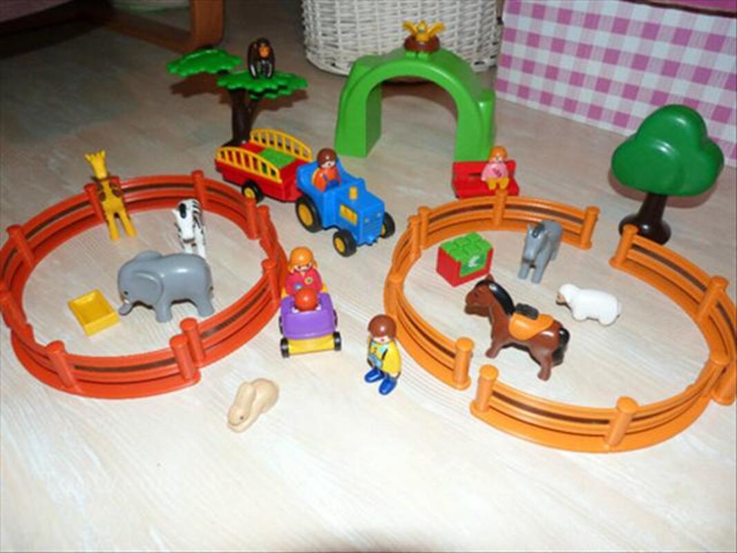 Playmobil 123 Lot: ferme, zoo, train, pompier, camion.. 56470080